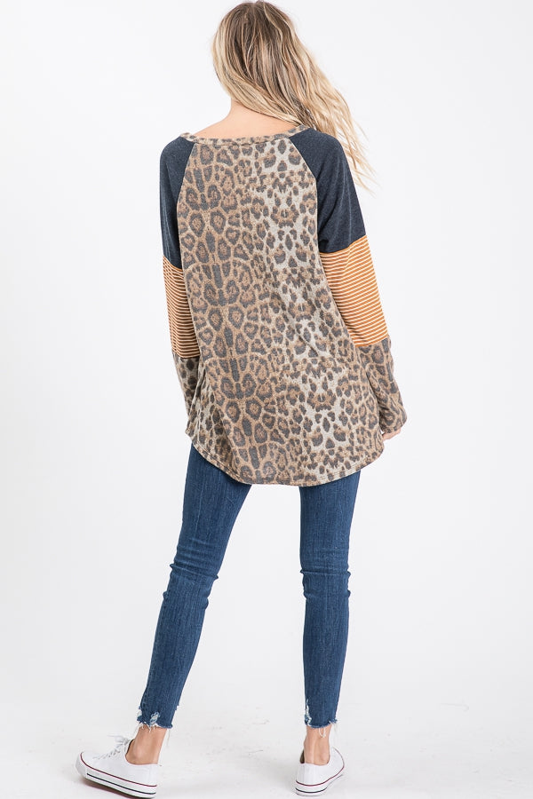 A Real Soft Spot Animal Print Top