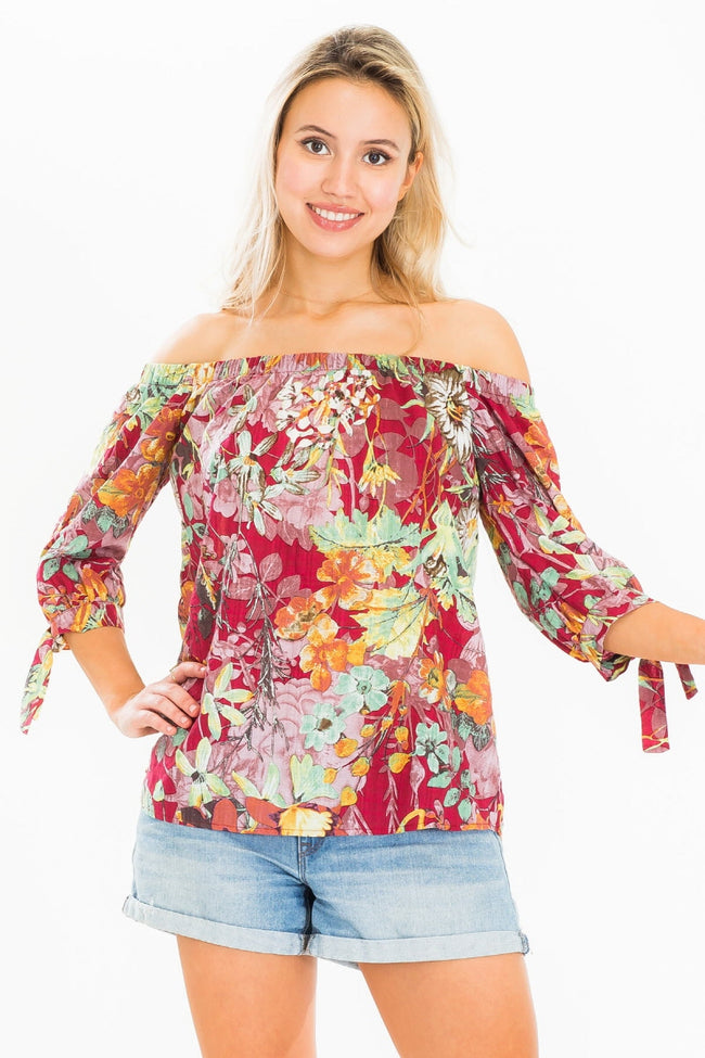 In the Summertime Top in Red - MIA Boutique LLC