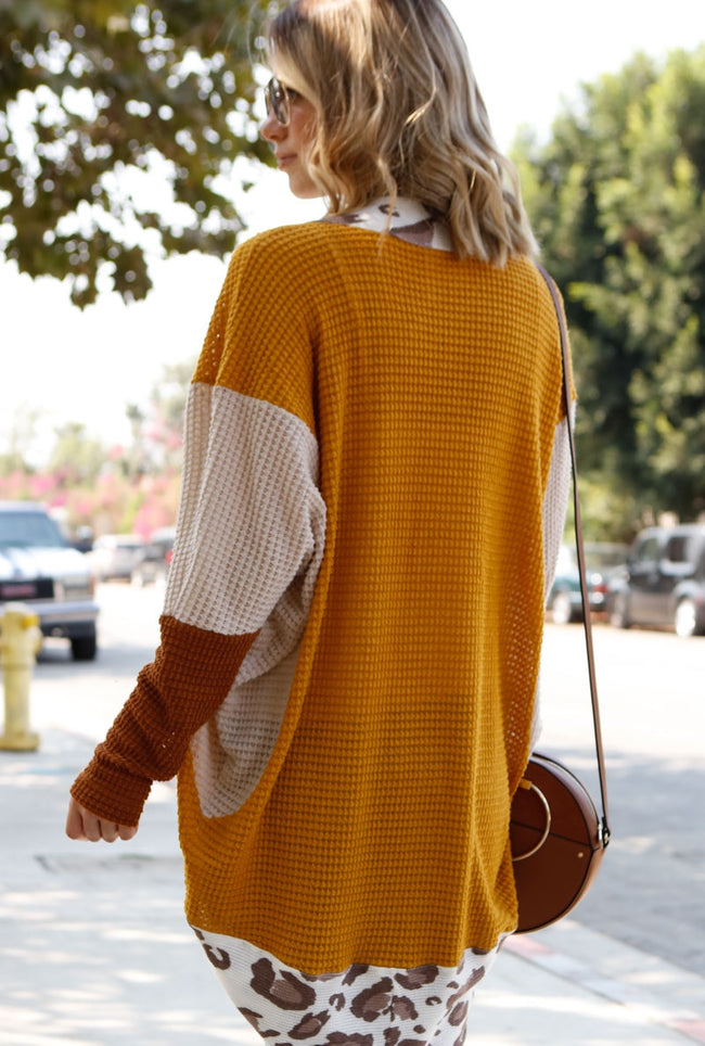 Good For the Soul Cardigan in Mustard