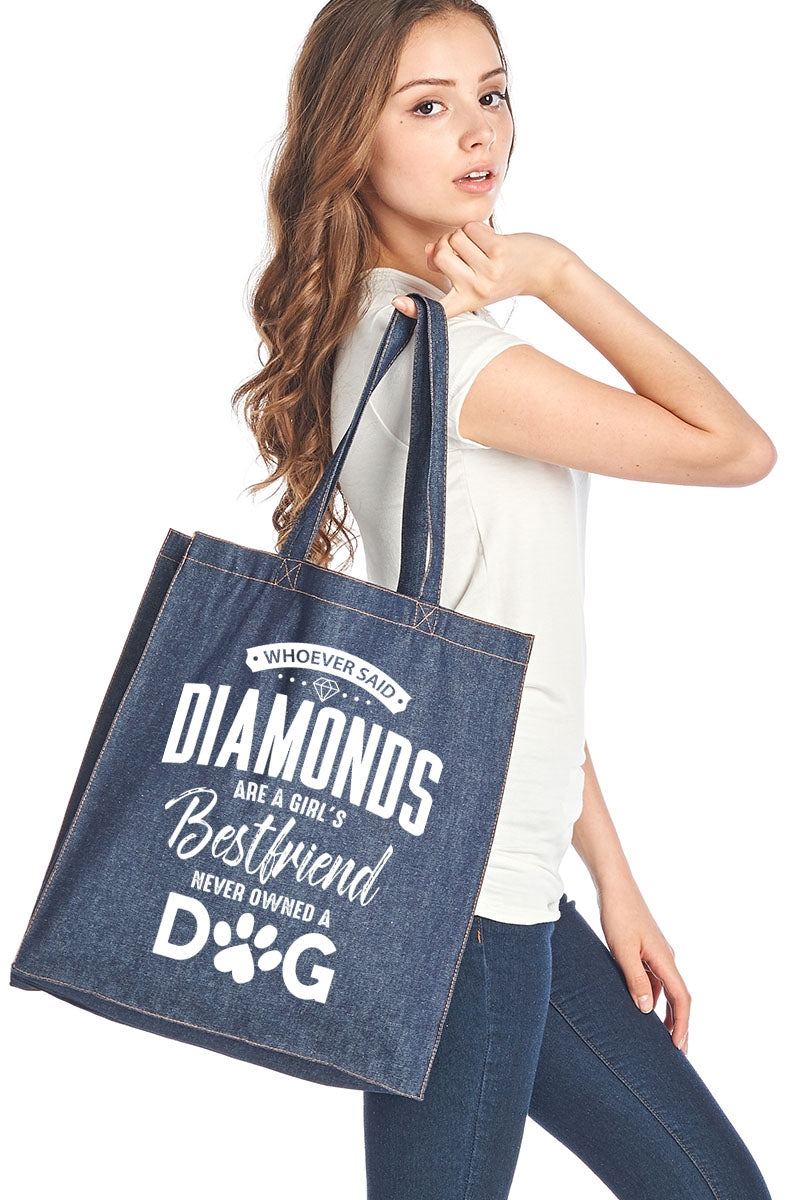 Whoever Said Diamonds... Denim Tote