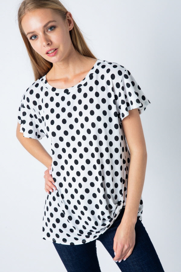 No Dot About It Knot Detail Tunic - Curvy - Top - MIA Boutique LLC