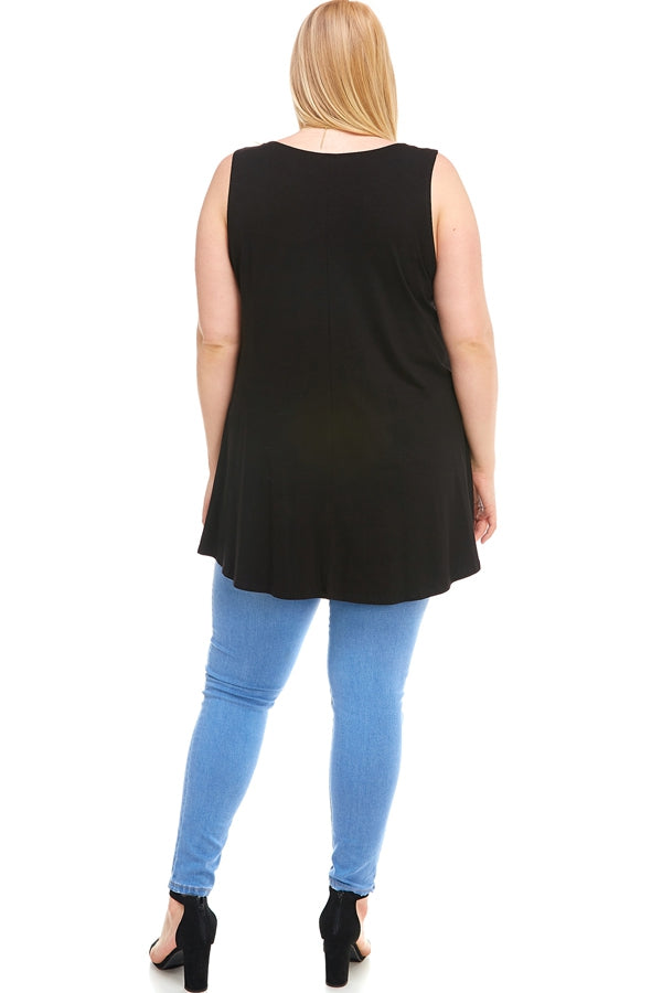 The Elizabeth Tunic in Black - Curvy - Top - MIA Boutique LLC
