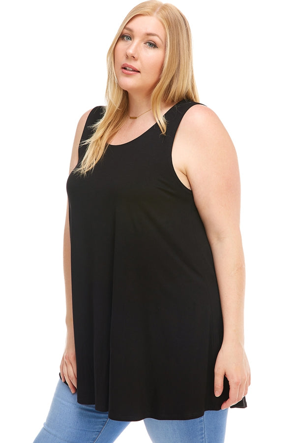 The Elizabeth Tunic in Black - Curvy
