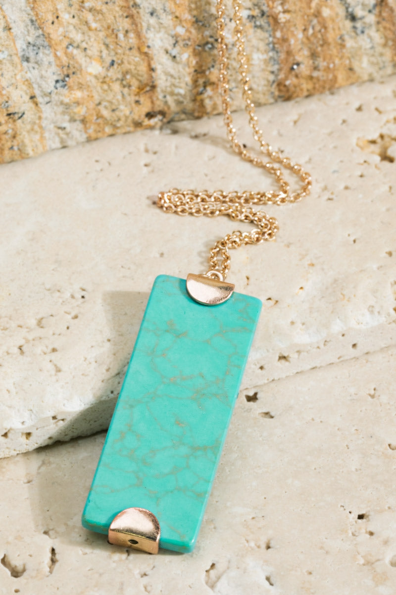 Taos Turquoise Stone Necklace - Accessory - MIA Boutique LLC