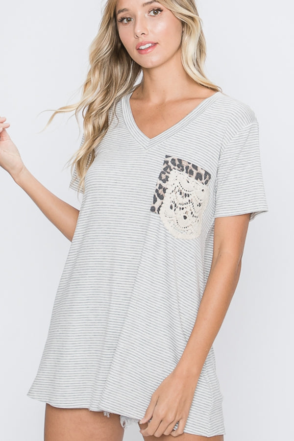 Two's Company Tunic in Heather Grey