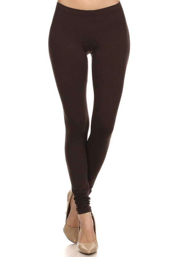 Basic Leggings - Brown - Bottom - MIA Boutique LLC