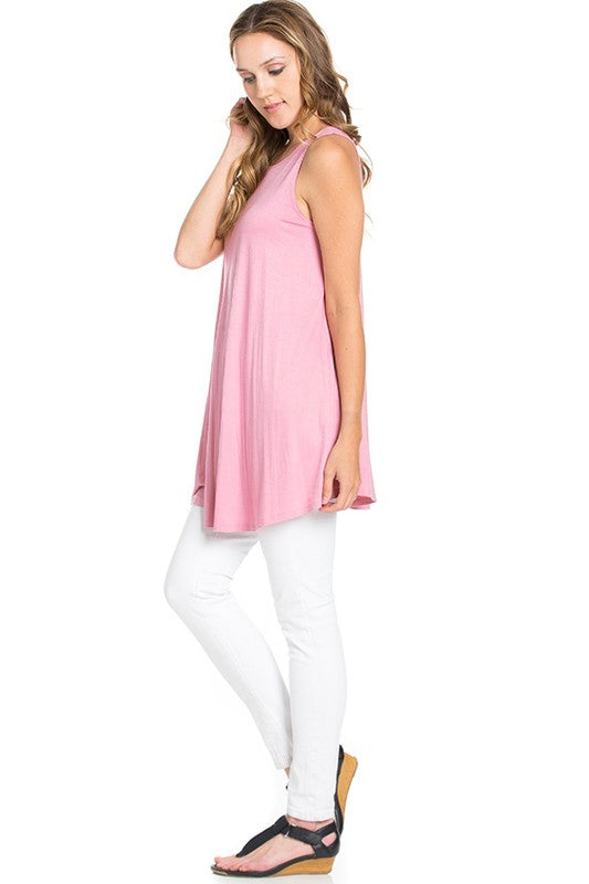 The Elizabeth Tunic in Pink - MIA Boutique LLC