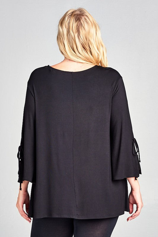 Time Of My Life Tunic in Black - Curvy - Top - MIA Boutique LLC