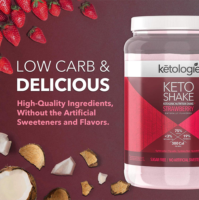 Strawberry Keto Protein Shake- Net Wt. 2.38lb