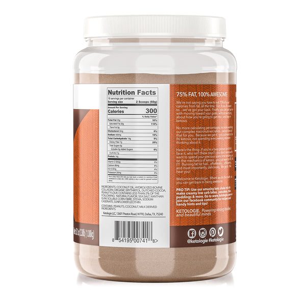 Peanut Butter Chocolate Keto Protein Shake- Net Wt. 2.38lb