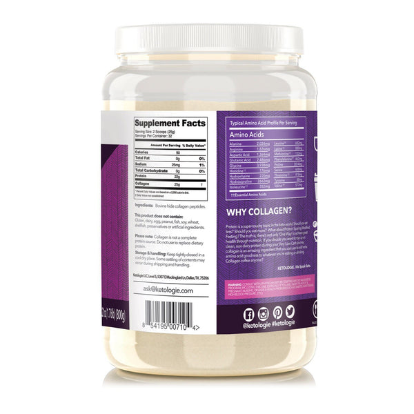 Collagen Protein (unflavored) Net Wt. 28.21oz
