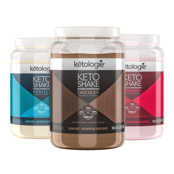 The Triple Whammy Neapolitan Pack - 3 x Keto Shakes