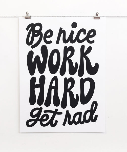 BE NICE Poster