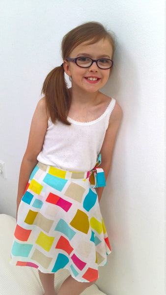 Girls handmade wrap skirt
