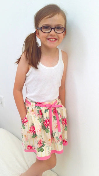 Girls handmade skirt with pockets