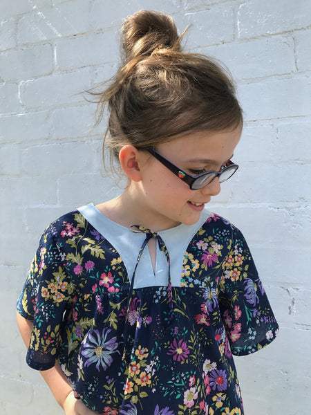 Girls handmade Boho shirt