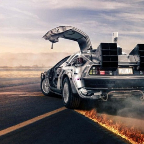 Back To The Future Movie Delorean Dmc 12 Car Wall Art