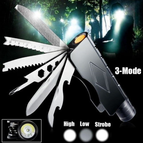 LED Flashlight Rechargeable Knife Torch