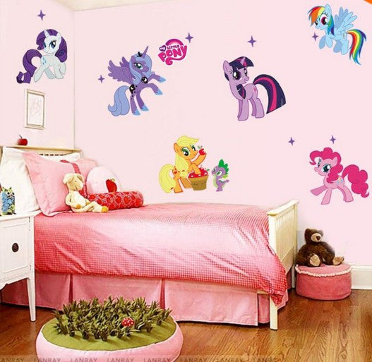 My Little Pony Cartoon Wall Stickers For Kids