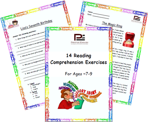 14 Reading Comprehension Exercises for Ages 7-9 (Grade 3) - SAMPLE - Download