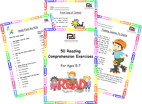 50 Reading Comprehension Exercises for Ages 5-7 (Grade 1) - Download