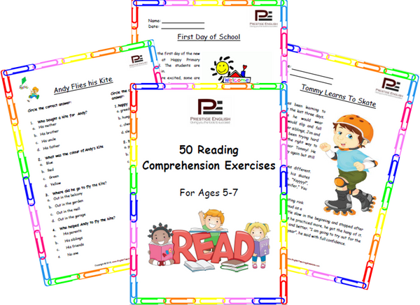 FREE 50 Reading Prehension Exercises For Ages 5 7