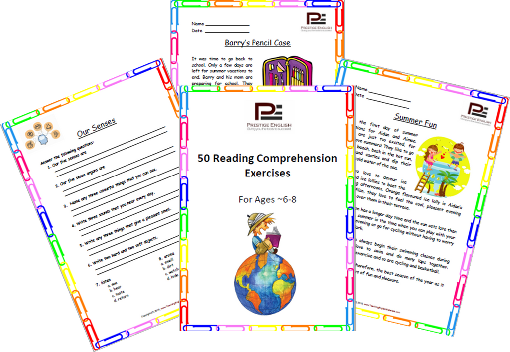 FREE \'50 Reading Comprehension Exercises for Ages 6-8 (Grade 2 ...