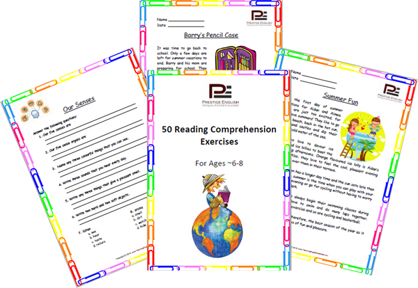 FREE 50 Reading Prehension Exercises For Ages 6 8