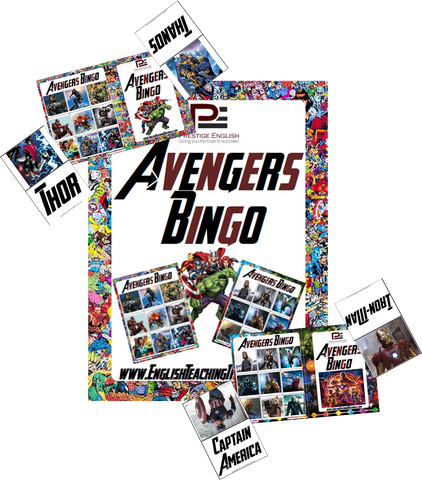 Avengers Bingo | Fun Classroom Game - Download