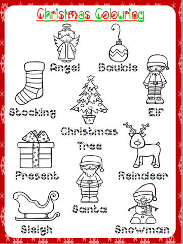 Christmas Colouring Worksheet | Free