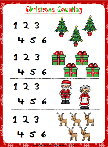 Christmas Counting Worksheet | Free