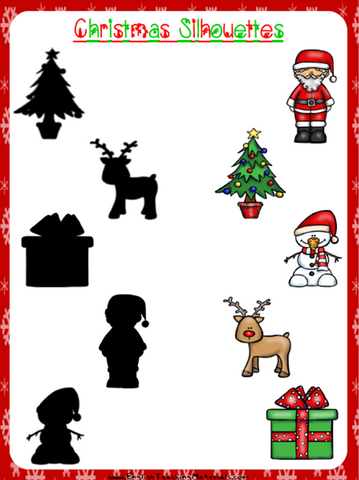 Christmas Silhouettes Worksheet | Free - Download