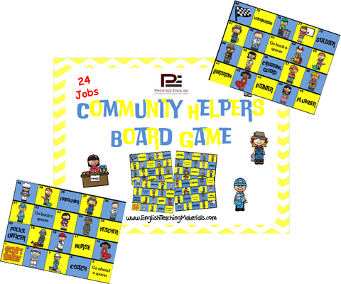 Community Helpers Board Game - Download