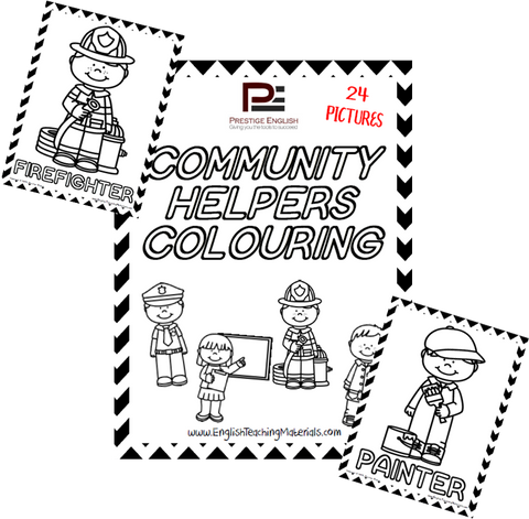 Community Helpers Colouring - Download