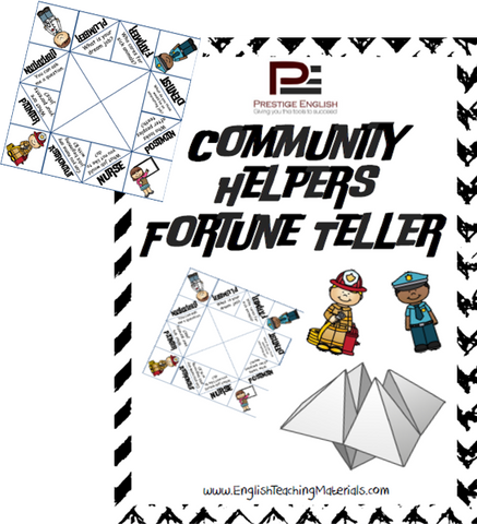 Community Helpers Fortune Teller - Download