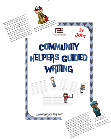 Community Helpers Guided Writing - Download