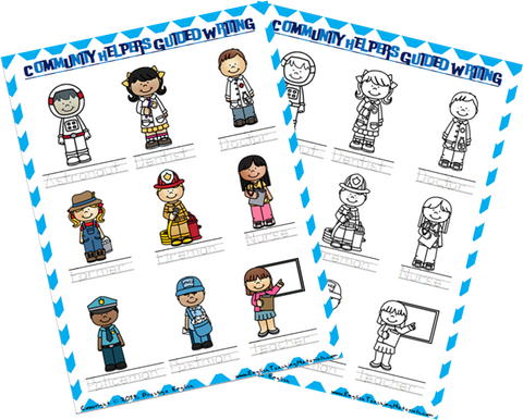 Community Helpers Guided Writing Worksheet - Download