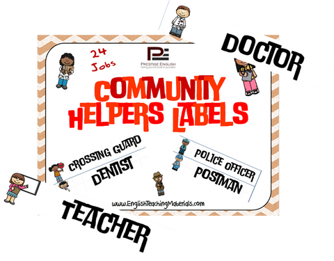 Community Helpers Labels - Download