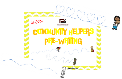Community Helpers Pre-Writing - Download