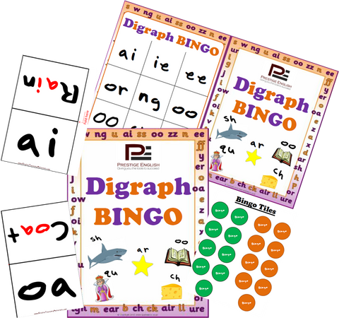 Digraph BINGO | Fun Bingo Game - Download