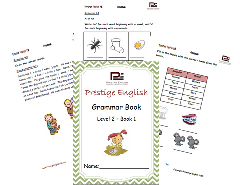 FREE English Grammar Book – Level 2 – Book 1 SAMPLE - Download