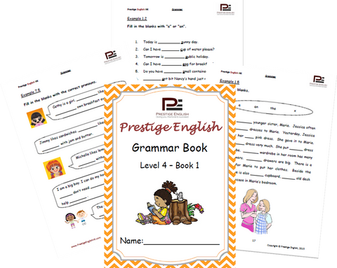 FREE English Grammar Book – Level 4 – Book 1 SAMPLE - Download