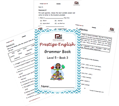 FREE English Grammar Book – Level 5 – Book 3 SAMPLE - Download