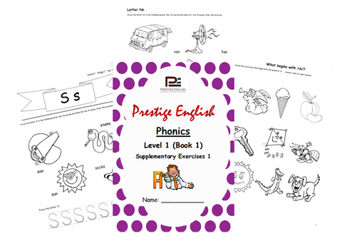 Phonics Book – Level 1 (Book 1) – SUPPLEMENTARY EXERCISES 1 ( Jolly Phonics / Letterland ) - Download