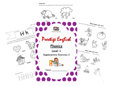 Phonics Book – Level 1 (Book 1) – SUPPLEMENTARY EXERCISES 2 ( Jolly Phonics / Letterland ) - Download