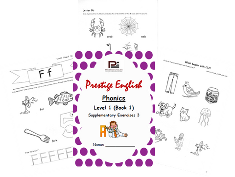 Phonics Book – Level 1 (Book 1) – SUPPLEMENTARY EXERCISES 3 ( Jolly Phonics / Letterland ) - Download