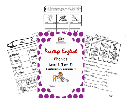 Phonics Book – Level 1 (Book 2) – SUPPLEMENTARY EXERCISES 4 ( Jolly Phonics / Letterland ) - Download