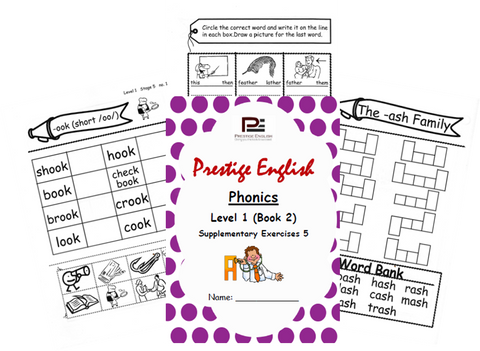 Phonics Book – Level 1 (Book 2) – SUPPLEMENTARY EXERCISES 5 ( Jolly Phonics / Letterland ) - Download