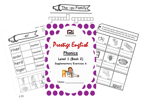 Phonics Book – Level 1 (Book 2) – SUPPLEMENTARY EXERCISES 6 ( Jolly Phonics / Letterland ) - Download