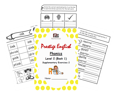 Phonics Book – Level 2 (Book 1) – SUPPLEMENTARY EXERCISES 2 ( Jolly Phonics / Letterland ) - Download
